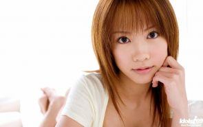 Cute japanese teen undressing for bed