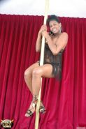 Ebony Tranny Stripper Pole Dancing