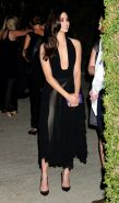 Emmy Rossum braless showing cleavage at Michael Kors launch of Claiborne Swanson