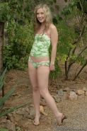 Cute teen small tits naked in nature