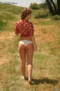 Kari Sweets getting naked outdoors