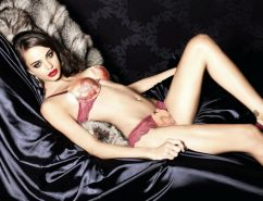 Nicole Meyer exposing her perfect body in seductive Lormar Lingerie collection