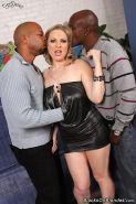 Busty Vicky Vixen gets all her holes drilled by black Men