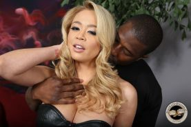 Busty Mia Lelani enjoys a big black cock in action