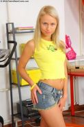 Blonde russian teen Jessica Miller enjoying black bigcock