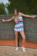 Sporty girl Ivana Fukalot goes nude outdoors and fingers herself