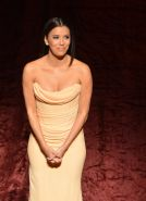 Eva Longoria busty wearing a tube maxi dress at the Latino Inaugural 2013 event