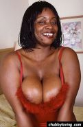 Thick black chick with huge boobs