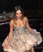 Kaley Cuoco showing huge cleavage at Vegas Magazine launch party