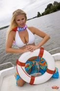 Nikita Valentin getting naked on a boat ride