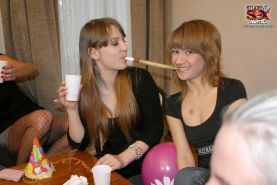 Russian college girls get fucked at house party