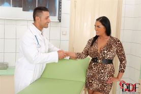 Jasmine Black and Sandra Boobies get fucked by the doctor