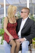 Blonde mom in sexy stockings anal fuck and facial cumshot