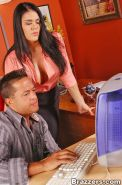 Big titted office girl Olivia Olovely getting pounded