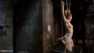 Ashley Lane is rope bound and her pussy toyed by maledom The Pop