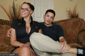Gianna Michaels in hot threesome with two guys