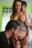 Maria Bellucci gets all of her holes filled by two big guys