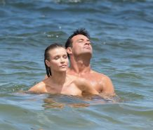 Joanna Krupa caught topless and fucking hard at the beach in Miami