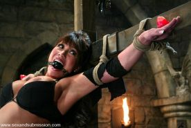 Ava Devine experienced in bondage and fucked in every hole