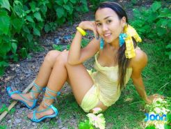 thai sweety gets naughty in the jungle