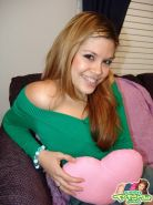 Eighteen year old Teen Topanga pulls down panties to show pussy
