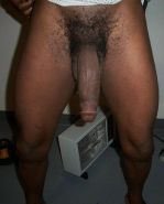 Nude amateur guy with large white penis