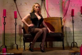 Aiden Starr punishes and humiliates new slaveboy with CBT