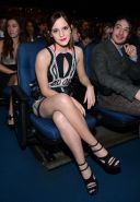 Emma Watson leggy wearing a skimpy little dress at the People's Choice Awards