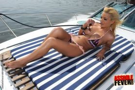 Blonde Queen Christin in anal fuck drill on a yacht
