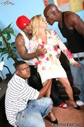 hot mature Ginger Lynn gets double penetrated by hung blacks