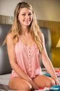Staci Silverstone makes love to her man in striped panties