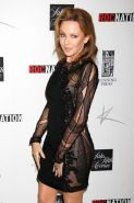 Kylie Minogue pantyless wearing a partially see through mini dress at the 'Kylie