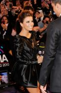Eva Longoria leggy wearing a nasty short black dress at 2010 MTV European Music