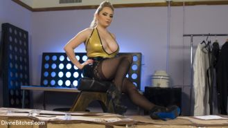 Aiden Star puts a new submissive through heavy corporal, bondage, CBT and chasti