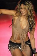 Shakira looking very hot in some sexy outfit on stage paparazzi pictures