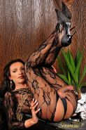 Shemale In a Black Body Stocking
