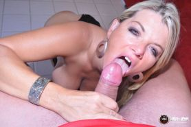 BUSTY HOT WEBSTAR OF THE YEAR VICKY VETTE TITFUCKS A LUCKY COCK!