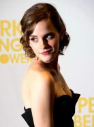 Emma Watson cleavy wearing a black strapless dress at ' Perks of Being a Wallflo