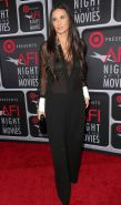 Demi Moore shows off her big boobs wearing a see through bra  shirt at the ArcLi
