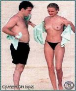 Cameron Diaz auditions in an early topless photo shoot