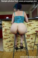 Proxy Paige fisting her bunghole while sitting on bar stool in this fetish porn