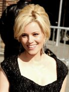 Gorgeous Elizabeth Banks showing her hot body in skimpy dress at the Late Show i