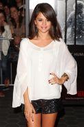 Selena Gomez leggy at 'The Thing' premiere in Los Angeles