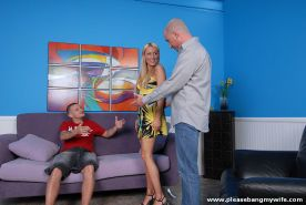 Diana Doll fucks a stranger and her cuckold husband watches