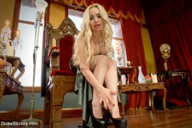 Enjoy a Free FemDomme POV Foot Worship Bonus starring the one and only Goddess A