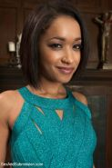 Ebony hottie Skin Diamond gets hogtied by Isis Love and her hole