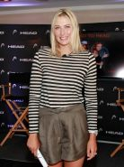 Maria Sharapova leggy promoting the latest collection from Head in NYC