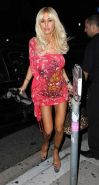 Shauna Sand showing her big tits and panties upskirt paparazzi pictures