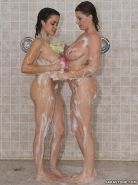 Busty chicks Sara Stone and Chavon Taylor take a lesbian shower