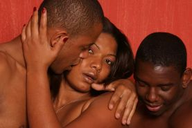 Every ass in this bisexual threeway get pounded by a hard black cock